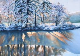 Russian winter Painting by Anna Kasso | Saatchi Art