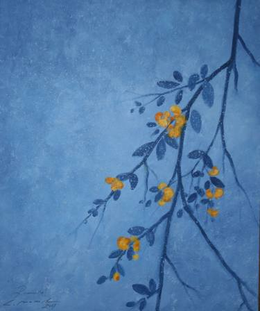 branch with yellow flowers