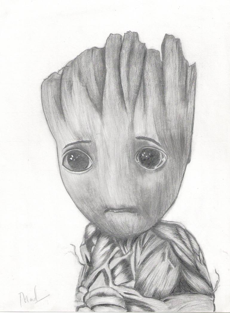 pencil drawing of baby