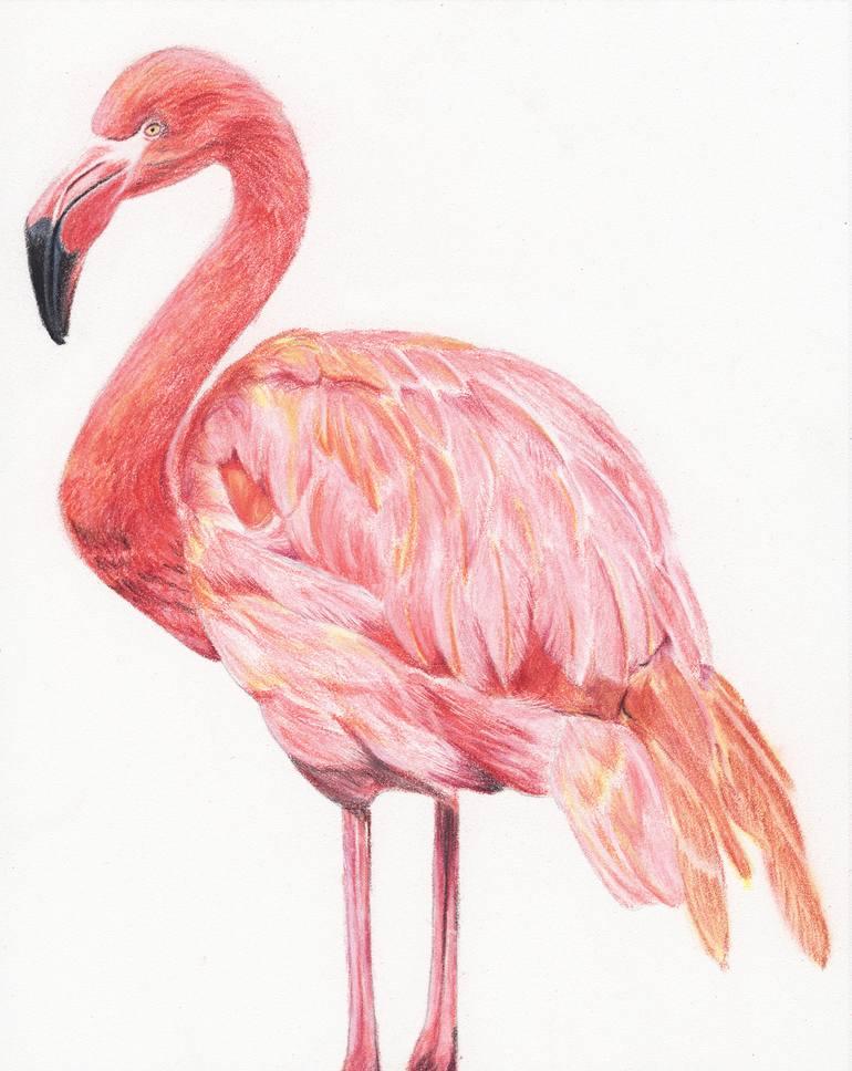 day dreaming flamingo pastel