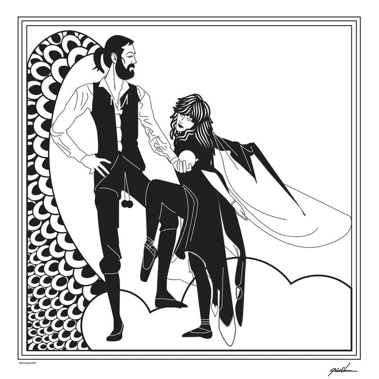 Fleetwood Mac-Rumors in Aubrey Beardsley Style New Media