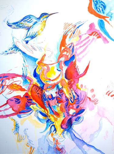 abstract animals art paintings