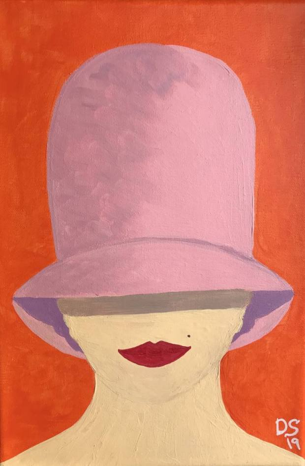 Original Portrait Painting by Daria Shi | Portraiture Art on Canvas | Nina