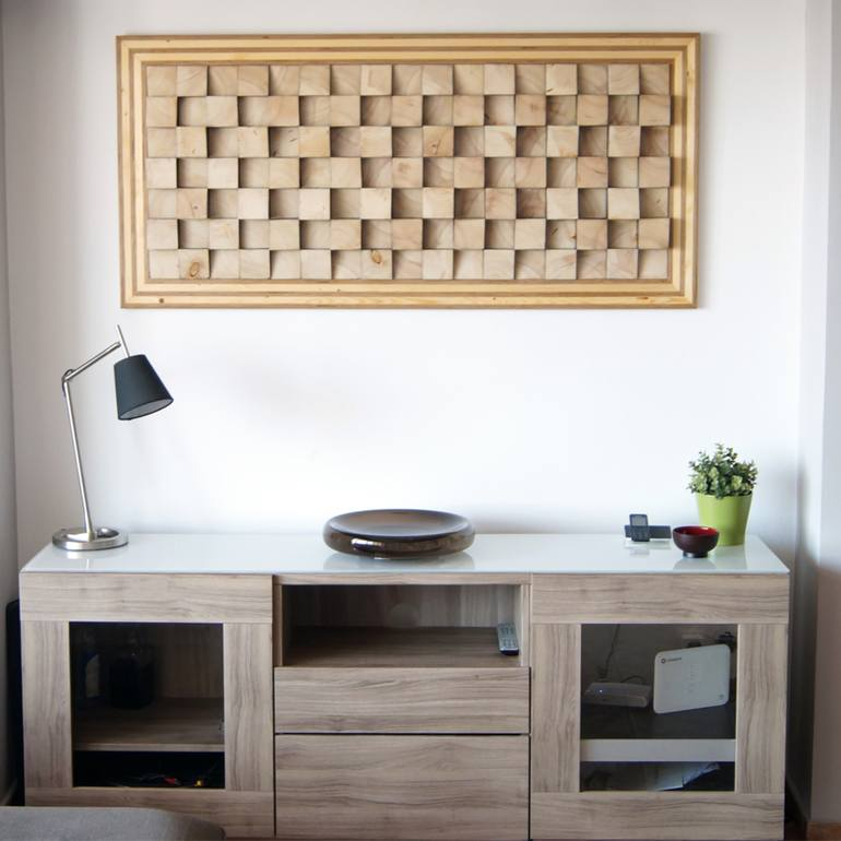 Large Wall Art For Living Room Sound Diffuser Sculpture By Wood Blocker Saatchi Art