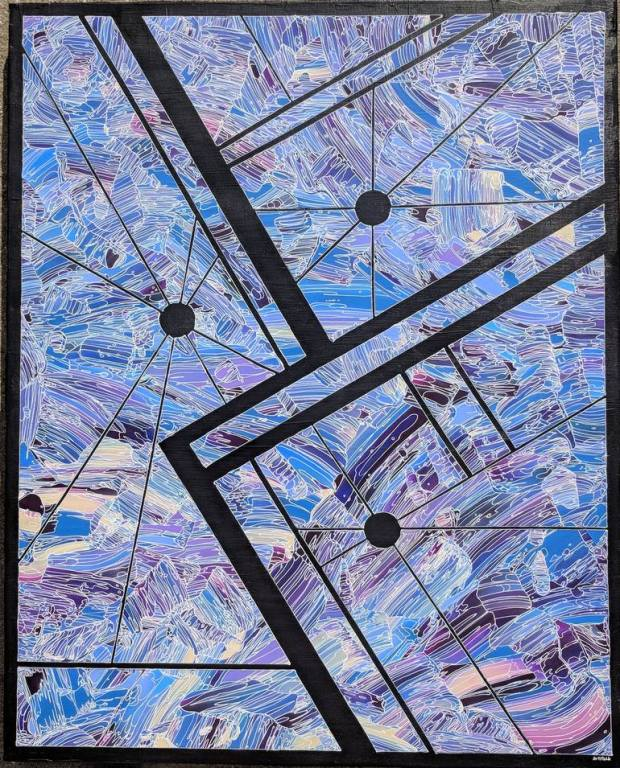 Original Abstract Painting by Brad Antifolk | Abstract Art on Canvas | Wretched & Sublime