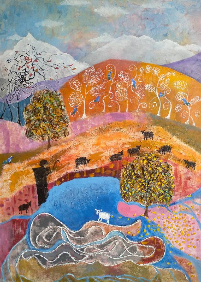 What Dreams May Come Painting : dreams, painting, Dreams, Painting, Evgeniya, Erkenova, Saatchi