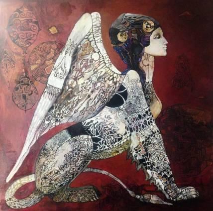Sphinx Painting by Olga Zelinskaya | Saatchi Art