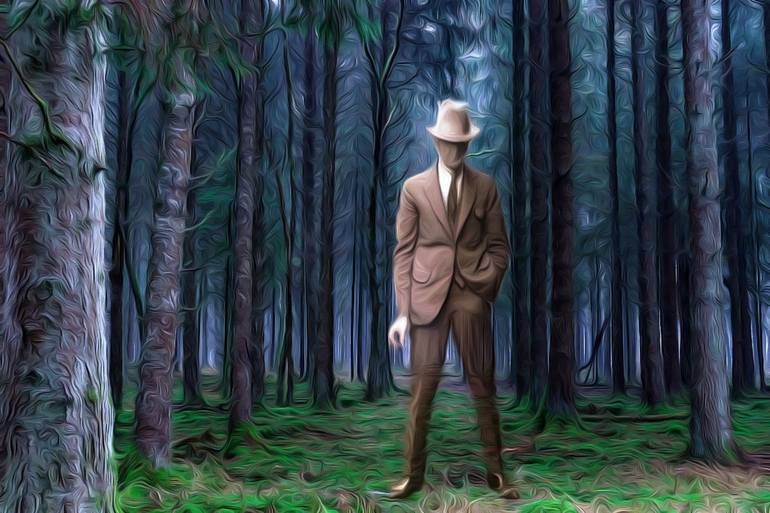 More than 25,000 works of art spanning 5,000 years. Forest Man Painting By Ashley Parker Owens Saatchi Art