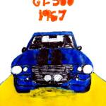 1967 Ford Mustang Shelby Gt500 Painting By Neal Turner Saatchi Art