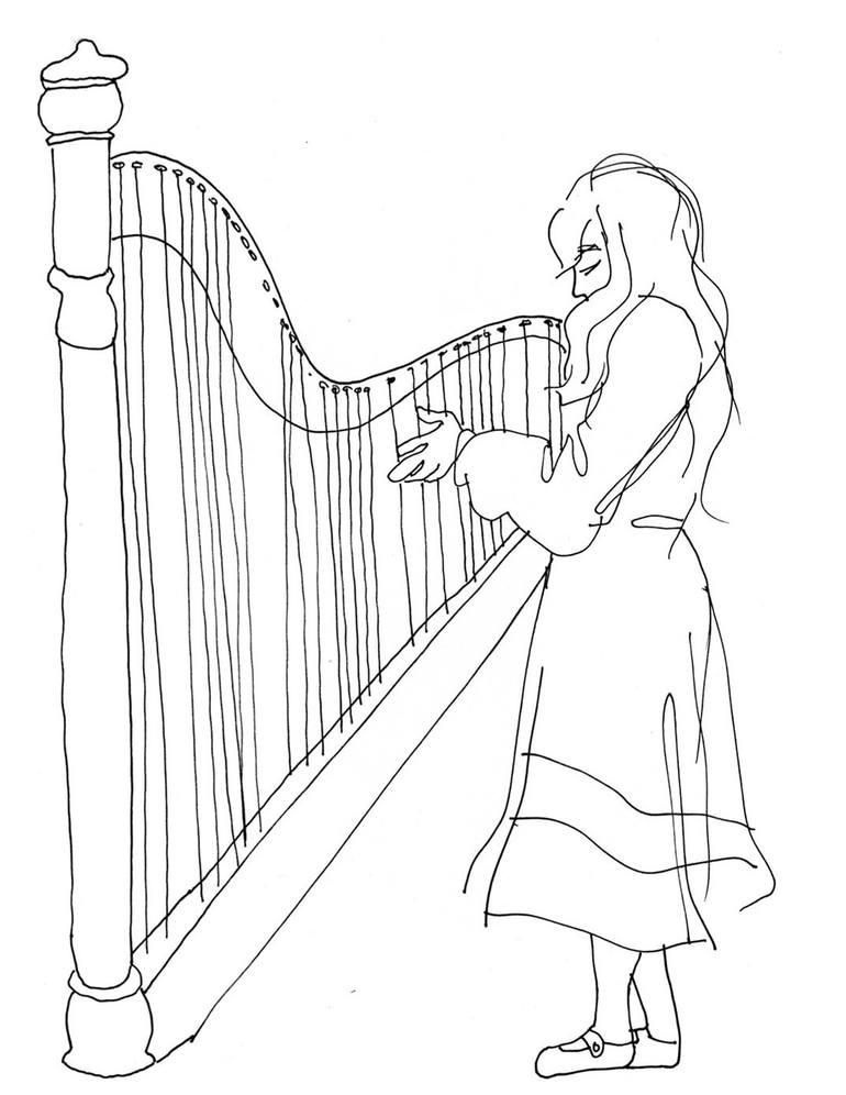 Harp Line Art Neobux Bg