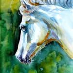 White Horse Painting By Kovacs Anna Brigitta Saatchi Art