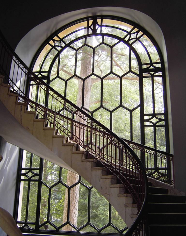 Staircase Window Tree Limited Edition 2 Of 5 Photography By   Staircase Window Glass Design   Geometric   Architecture   Flower   Residential   Glass Brick