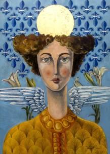 Archangel Gabriel Painting by Mariano Alvarez | Saatchi Art