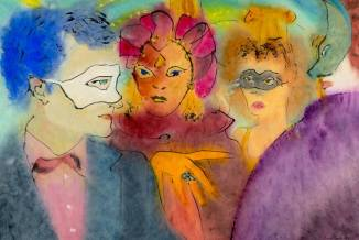 Masked ball Painting by Marcel Garbi | Saatchi Art