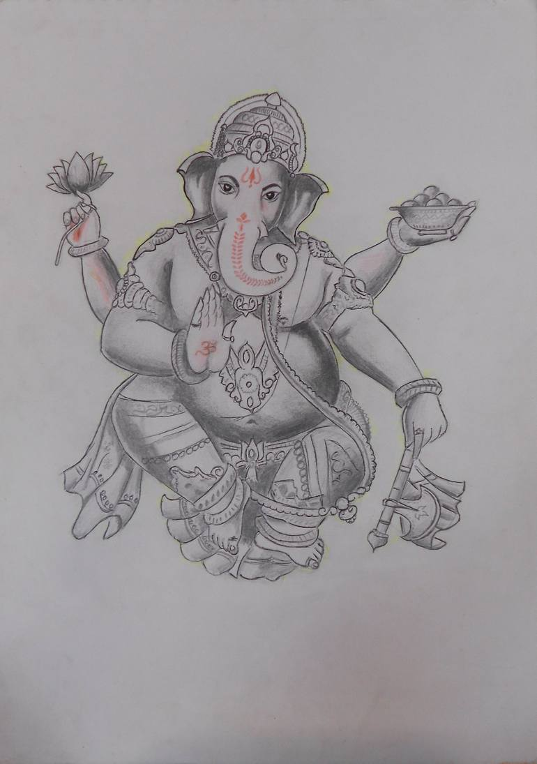 Lord Ganesha Drawing By Akshay Patil Saatchi Art