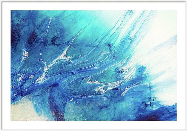 blue art painting blue
