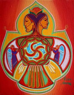 Janus Painting by Ekaterina Abramova | Saatchi Art