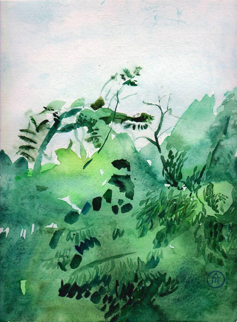 Foliage Painting : foliage, painting, Foliage, Painting, Andreea-, Mancas, Saatchi