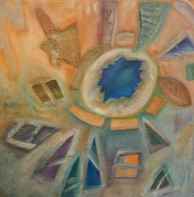 Blue Star Painting by Ivana Pelouchová | Saatchi Art