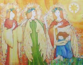 Faith Hope Love Painting by Lena Dzhangirova | Saatchi Art