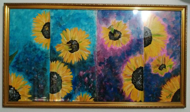 abstract sunflowers