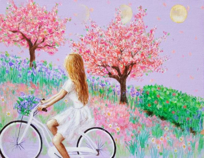 Spring Girl Painting by Eury Kim | Saatchi Art