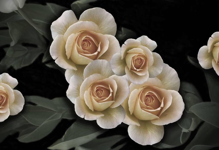 dark light gothic floral