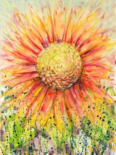 abstract sunflower paintings for