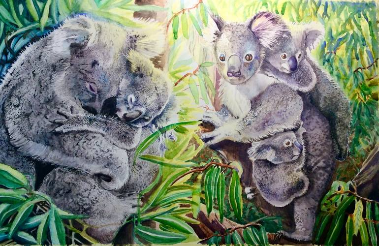 Koala Bear Mamas Painting By Angela Duffield Warren Saatchi Art