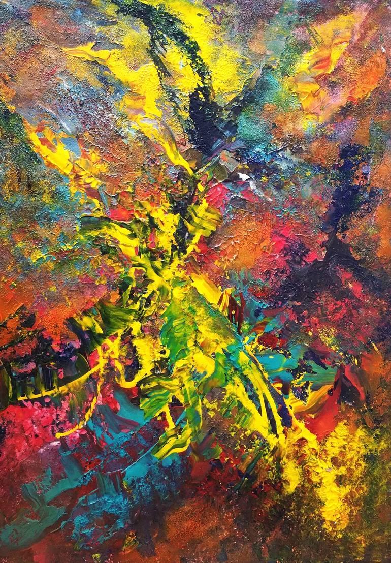 acrylic abstract painting autumn