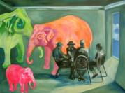 Many Elephants in the Room Painting by Barbara Cadario | Saatchi Art
