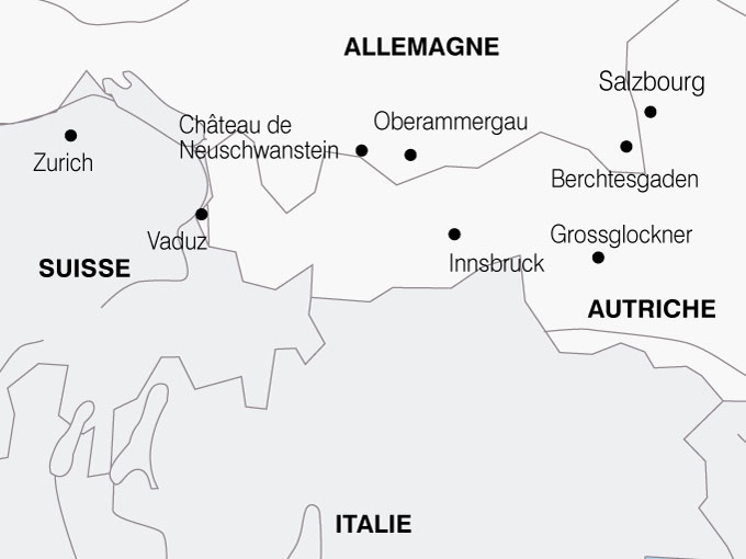 Le Tyrol Autrichien d eacute part est de la France Circuit