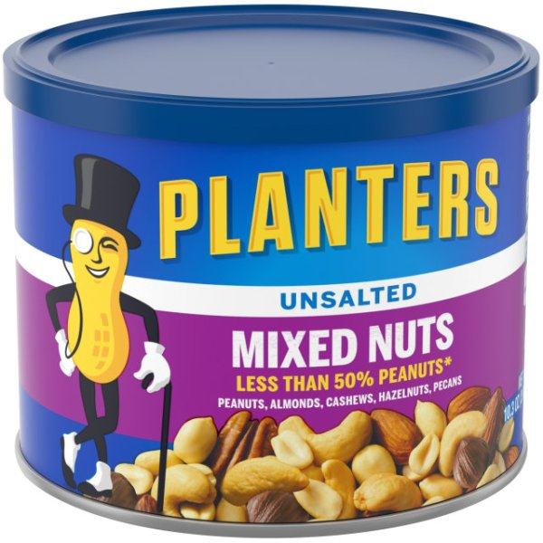 PLANTERS Unsalted Mixed Nuts 103 oz Can Planters