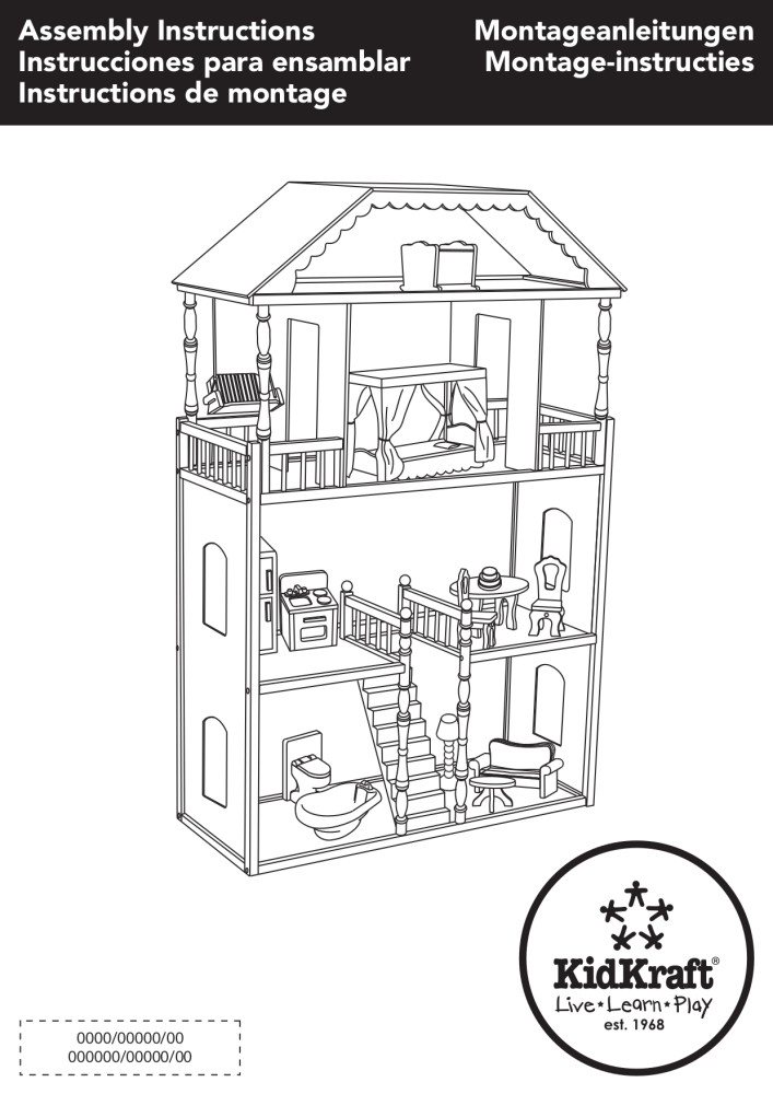 KidKraft Savannah Dollhouse with 14 Accessories Included