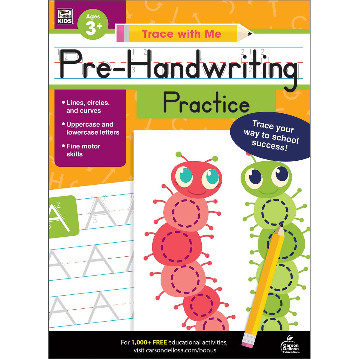 Trace With Me Pre Handwriting Activity Book Grades Prek