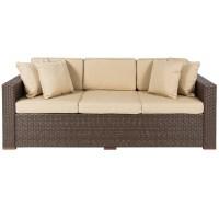 Outdoor Wicker Patio Furniture Sofa 3 Seater Luxury ...