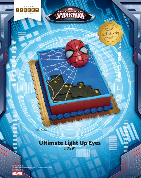 Spider Man Ult Light Eyes Publix Tmoc Page Magic Home Toy Story Birthday Cake