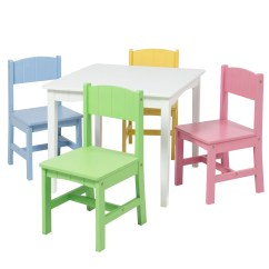 Wooden Kids Chairs Great Windsor Chair Table And 4 Set Furniture Play Area