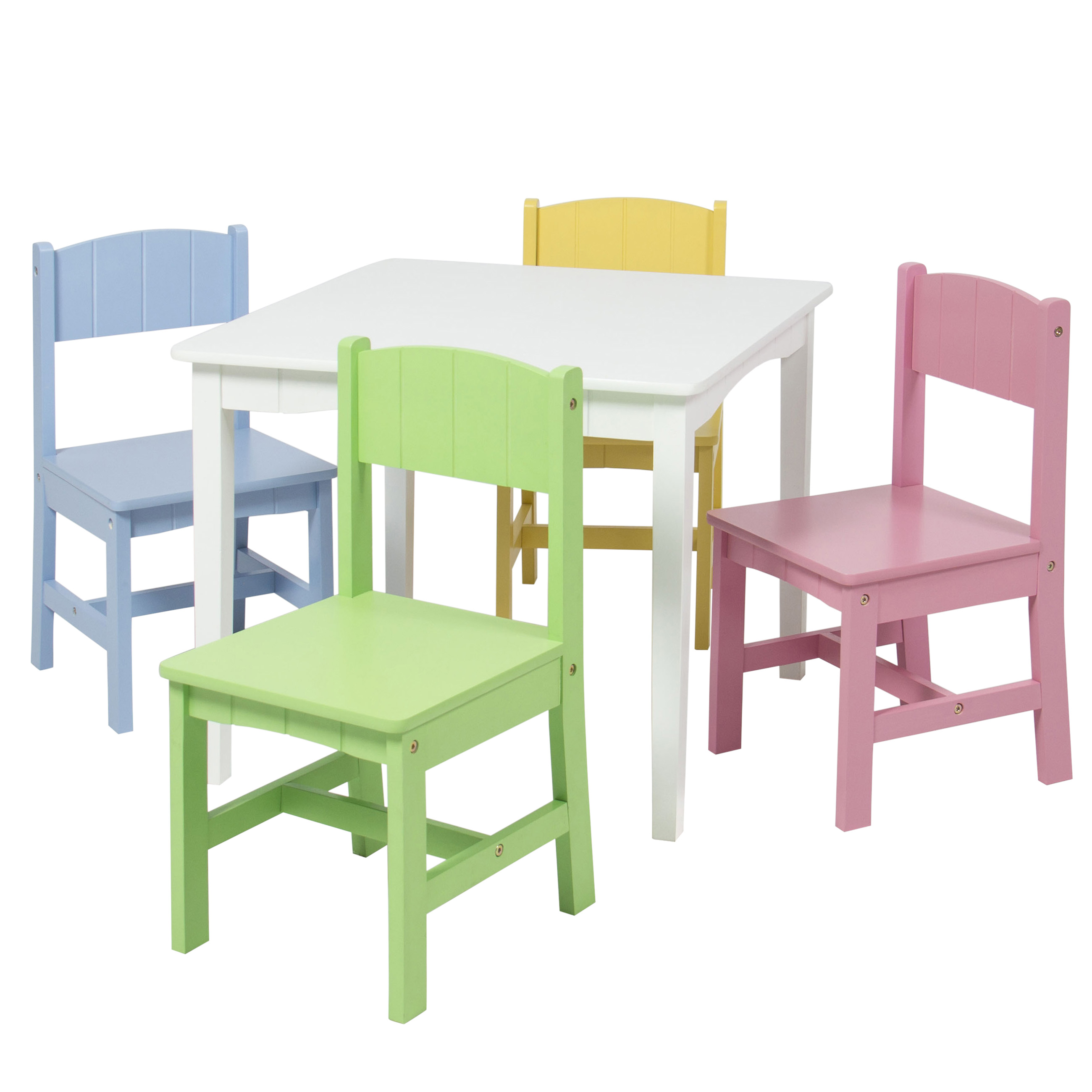 School Table And Chairs Wooden Kids Table And 4 Chairs Set Furniture Play Area