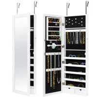 Mirrored Hanging Jewelry Cabinet Armoire Organizer Wall ...