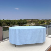 Budge All-Seasons Waterproof Oval Patio Table Cover ...