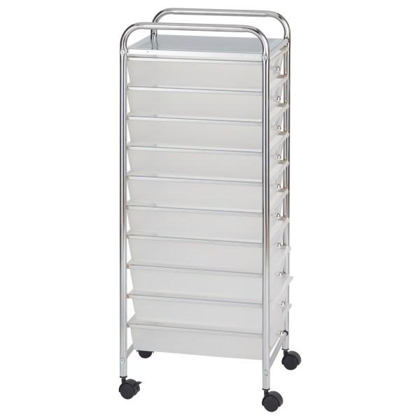Ecr4kids 10-drawer Plastic Mobile Organizer Rolling Cart Storage 763960501221