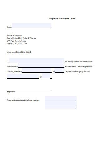 23+ Sample Retirement Resignation Letters [Teacher