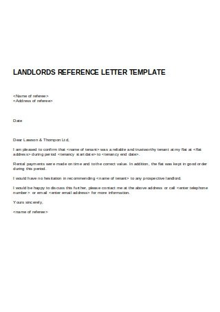 50 Sample Landlord Reference Letters