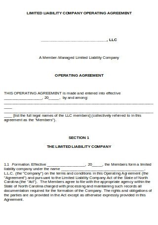Agreement) amends the original operating agreement dated month, date, year, [add. 35 Sample Operating Agreements In Pdf Ms Word