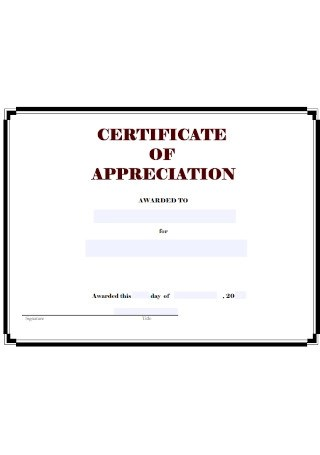 26+ SAMPLE Certificate of Appreciation and Letters in PDF