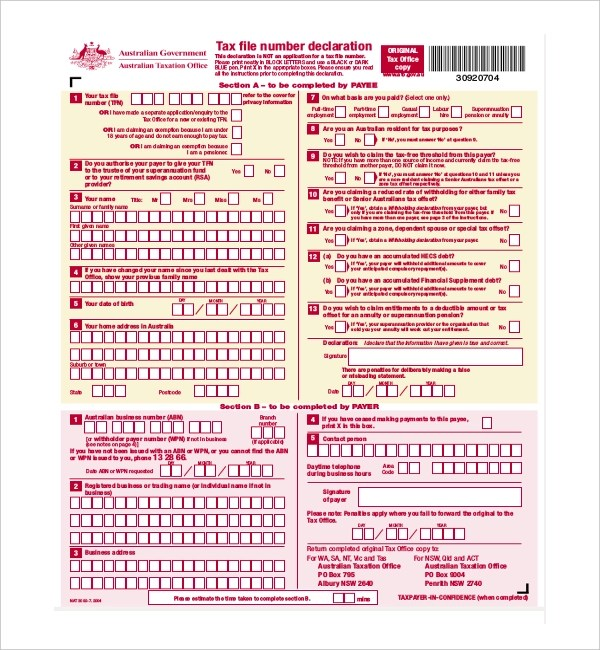 9+ Sample Employee Declaration Forms - Sample, Example Format