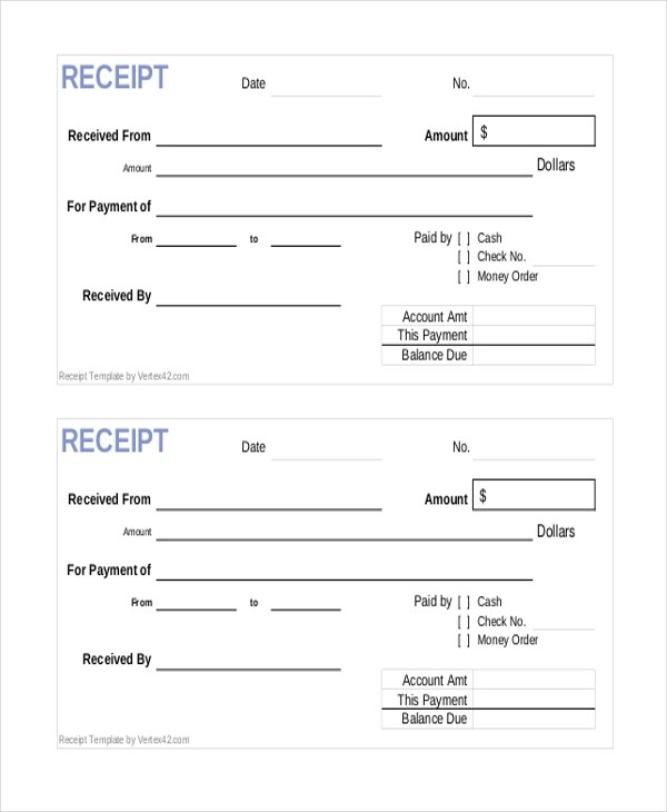 Sample Sales Receipt Form 9 Free Documents in PDF