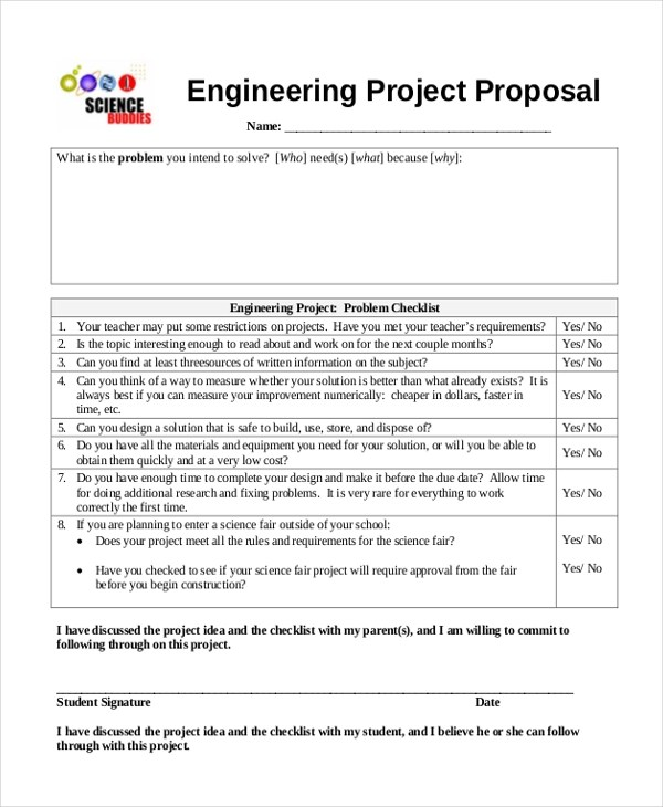 Sample Science Fair Proposal Form 10 Free Documents In