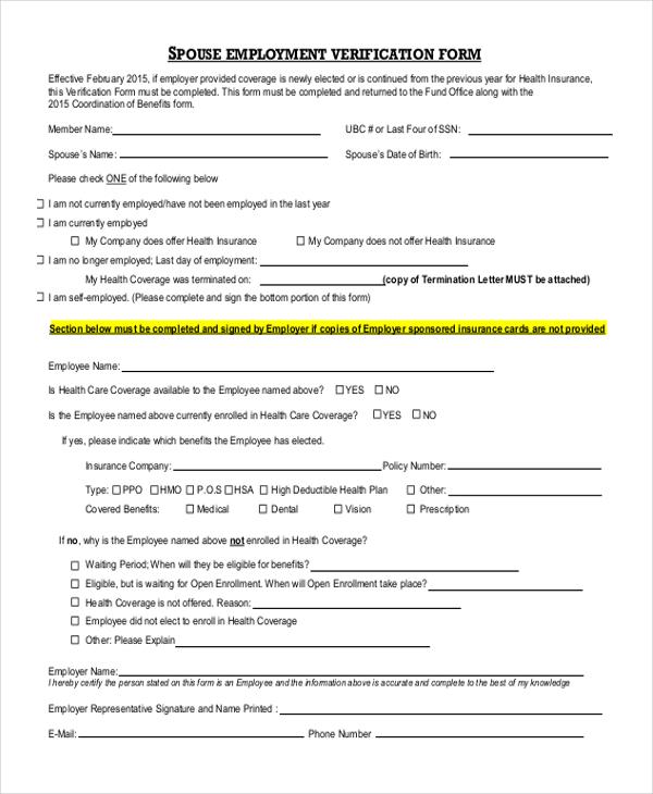 employment verification forms - solarfm.tk